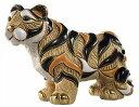 送料無料 シベリアタイガー親 F125陶器 置物 動物 トラ とら 虎 tiger タイガー 干支 十二支 寅 ペット インテリア オブジェ 雑貨 おし…