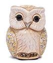 送料無料白フクロウ B05W陶器 置物 動物 ふくろう フクロウ 梟 オウル 福 縁起物 幸せ オブジェ おしゃれ かわいい 贈り物 プレゼント …