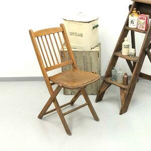 アンティーク 家具 フォールディングチェア 1920年頃 イギリス 英国 家具 椅子 ビンテージ家具/ヴィンテージ シャビー ディスプレイ 輸入家具 店舗什器 342A