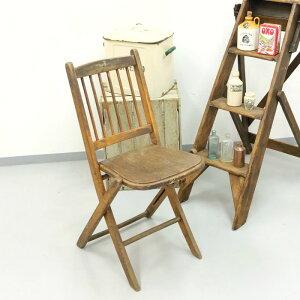アンティーク 家具 フォールディングチェア 1920年頃 イギリス 英国 家具 椅子 ビンテージ家具/ヴィンテージ シャビー ディスプレイ 輸入家具 店舗什器 343A