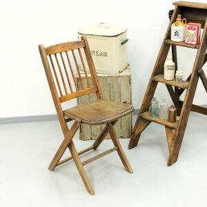 アンティーク 家具 フォールディングチェア 1920年頃 イギリス 英国 家具 椅子 ビンテージ家具/ヴィンテージ シャビー ディスプレイ 輸入家具 店舗什器 344A