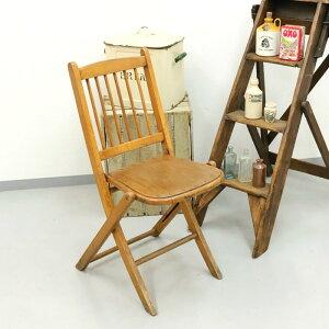 アンティーク 家具 フォールディングチェア 1920年頃 イギリス 英国 家具 椅子 ビンテージ家具/ヴィンテージ シャビー ディスプレイ 輸入家具 店舗什器 345A