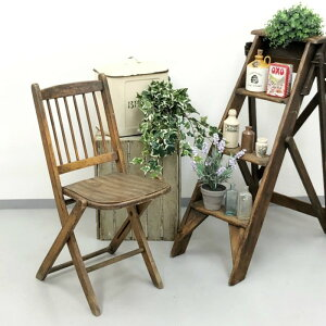 アンティーク 家具 フォールディングチェア 1920年頃 イギリス 英国 家具 椅子 ビンテージ家具/ヴィンテージ シャビー ディスプレイ 輸入家具 店舗什器 346A