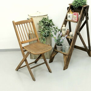 アンティーク 家具 フォールディングチェア 1920年頃 イギリス 英国 家具 椅子 ビンテージ家具/ヴィンテージ シャビー ディスプレイ 輸入家具 店舗什器 347A