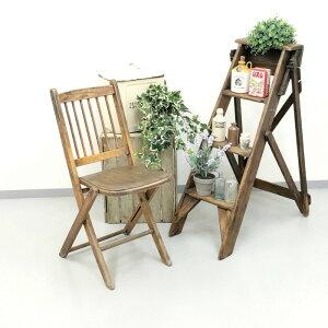 アンティーク 家具 フォールディングチェア 1920年頃 イギリス 英国 家具 椅子 ビンテージ家具/ヴィンテージ シャビー ディスプレイ 輸入家具 店舗什器 348A