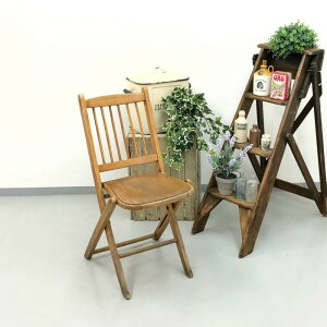 アンティーク 家具 フォールディングチェア 1920年頃 イギリス 英国 家具 椅子 ビンテージ家具/ヴィンテージ シャビー ディスプレイ 輸入家具 店舗什器 349A