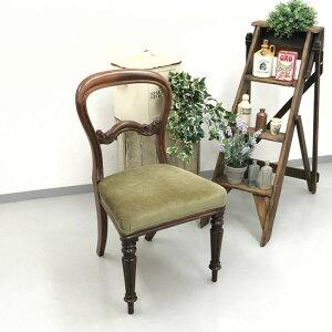 アンティーク 家具 バルーンバックチェア 1880年頃 イギリス 英国 家具 椅子 ビンテージ家具/ヴィンテージ ヴィクトリアン ディスプレイ 輸入家具 店舗什器 353A