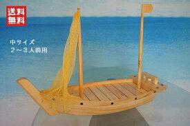 夢舟盛り【網有・マスト有】(中) 帆船模型(完成品)