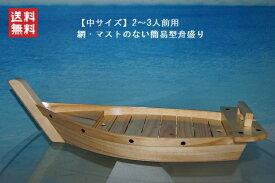 夢舟盛り【網無・マスト無】(中) 帆船模型(完成品)