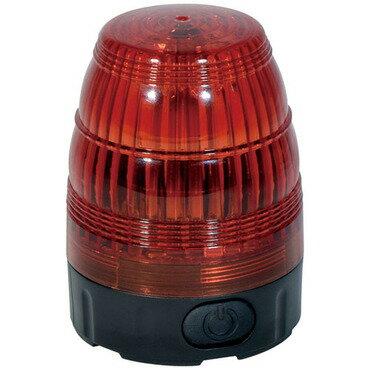 【即納可】日動工業 電池式LED小型回転灯 LEDフラッシャー75【赤】NLF75-BA-R パトライト 電源不要 電池式 強力マグネット式 簡単設置 屋外型(防水規格IP44)警告灯 モーターレス 回転 点滅 LED 【赤色:レッド】