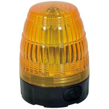 日動工業 電池式LED小型回転灯 LEDフラッシャー75【黄】NLF75-BA-Y パトライト 電源不要 電池式 強力マグネット式 簡単設置 屋外型(防水規格IP44)警告灯 モーターレス 回転 点滅 LED 【黄色:イエロー】