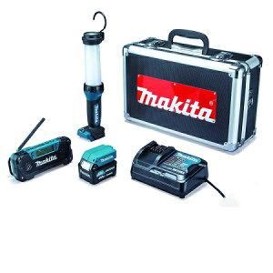 マキタ 防災用コンボキット CK1008 LEDライトML104 ラジオMR052 USBアダプタADP08 バッテリーBL1040B 充電器DC10SA 充電 災害 避難 備え アルミケース付 スマホ充電 バッテリー makita