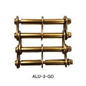 【メール便】ニックス(KNICKS) ALU-3-GO ゴールド アルミ製金具一式(アルマイト加工) パーツ 金具 腰袋 工具袋 道具袋