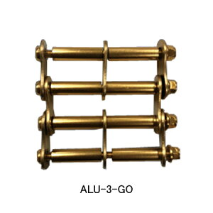 【在庫有り即納】ニックス(KNICKS) ALU-3-GO アルミ製金具一式(アルマイト加工)ゴールド パーツ 金具 腰袋 工具袋 道具袋