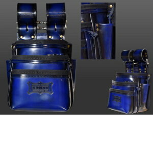 ニックス ガラス革腰袋【ブルー】 ADV-301DDX-BL 青