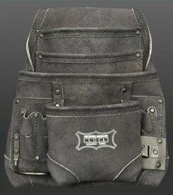 【在庫有り即納】ニックス(KNICKS) KCA-7503B(黒)2×4工法用釘袋 スウェード ブラック 腰 工具袋