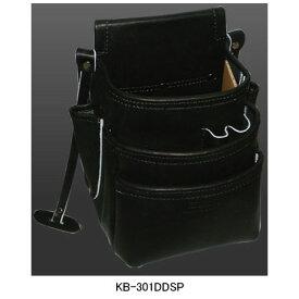 【欠品中:入荷時期未定】ニックス(KNICKS) KB-301DDSP 総グローブ皮仕上腰袋フチ/総グローブ革テープ巻(ブラック) 腰袋 工具袋 道具袋