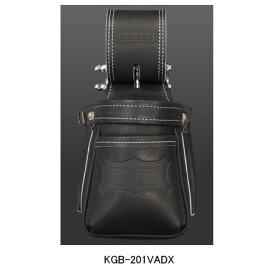 【在庫有り即納】ニックス(KNICKS) KGB-201VADX 最高級硬式グローブ革チェーンタイプ小物腰袋(VAストリッパーフォルダー)(ブラック) 腰袋 工具袋 道具袋