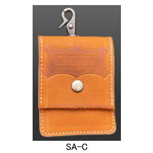 【希少!在庫限り品:即納可】ニックス(KNICKS) SA-C グローブ革 携帯灰皿ケース(キャメル) アクセサリ 携帯灰皿(※在庫限りの製造終了商品です)