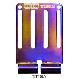 【欠品中:9/末頃入荷予定】ニックス(KNICKS) TIT-15LY 連結チタニウム1.5mmベルトループ(焼付けタイプ)Lサイズ パーツ 金具 腰袋 工具袋 道具袋