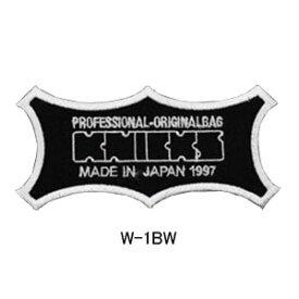 【1個のみ在庫有り即納】ニックス(KNICKS) W-1BW KNICKSオリジナルロゴ刺繍ワッペン 黒地x白文字