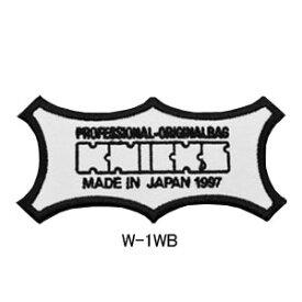 ニックス(KNICKS) W-1WB KNICKSオリジナルロゴ刺繍ワッペン 白地x黒文字