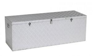 【送料無料】アルインコ 万能アルミボックス BXA-135 (幅1350×奥行450×高さ470) 丈夫 道具入れ 収納 荷台 軽トラック 軒先 庭