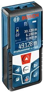 ボッシュ レーザー距離計 GLM500 見やすく分かりやすいカラー液晶画面表示 最大測定距離50m 傾斜計や水準器としても使用可能 防塵・防水性能 ストラップ付 単4アルカリ乾電池