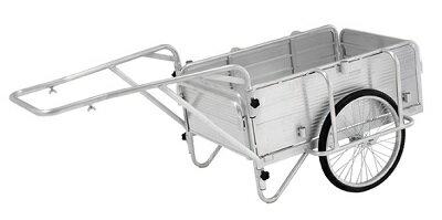 【アルインコ】アルミ製 折りたたみ式リヤカー HKW180 軽量 簡単組立 収納 農作業 運搬作業 清掃作業 ガーデニング 廃品回収 日本製 リアカー