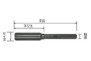 【スターエム/STAR-M】#28L-G180 ガイド18 No.28L 超硬座掘錐 大口径用