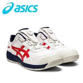 新作asicsアシックス作業用靴 ウィンジョブCP306 Boa 100(1273A029)ホワイト×クラシックレッド