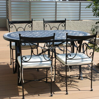 Garden Furniture Mosaic hanwa-ex | rakuten global market: mercury mosaic dining table vega