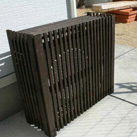 折りたたみ木製室外機カバー/目隠し 室外機カバー/RCP/05P03Sep16/【HLS_DU】