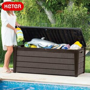 ケター ブラッシュウッドデッキボックス454L(Keter Brushwood Deck Box)【大型宅配便】/ケター ケーター 座れる ベンチ 物置 ストレージ 収納庫 ストッカー 収納ベンチ おしゃれ 木調 あす楽