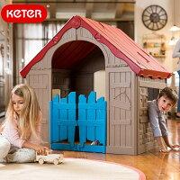 先行予約3月上旬頃入荷予定KETER折りたたみ式プレイハウスWonderFoldplayhouse【大型宅配便】/大型遊具秘密基地コテージハウス隠れ家屋外インポート子ども子供キッズトイ誕生日クリスマスプレゼント/RCP