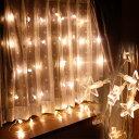 イルミネーション LEDインテリア カーテンライト48球 スター / 飾り 室内イルミ...