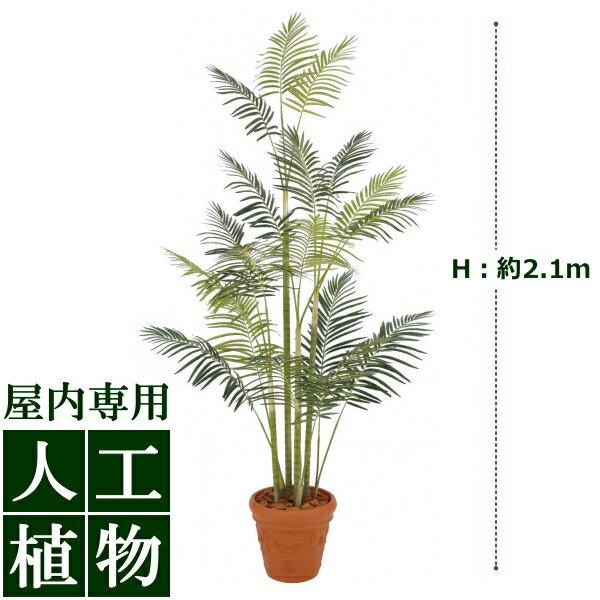 /人工植物/グリーンデコ鉢付 ヒメヤシ 2.1m /送料無料/RCP/05P03Dec16/【HLS_DU】