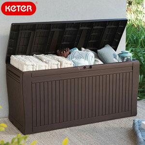 先行予約/11月中旬頃入荷予定 ケター コンフィーガーデンボックス(Keter Comfy Garden Box)【大型宅配便】/ケター ケーター ウッド調 ゴミ箱 座れる ベンチ 物置 ストレージ 収納