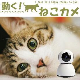 【今だけ32GB microSDプレゼント】【ネコとつながる!】ペット 見守りカメラ 留守番 防犯カメラ ワイヤレス ベビー モニター 小型 SDカード録画 監視カメラ 遠隔操作 スマホ WiFi 無線 ネットワークカメラ マイク内蔵 子供 犬 猫 送料無料[M32]