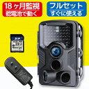 防犯カメラ トレイルカメラ 屋外 ワイヤレス 電池式 監視カメラ 防水 防塵 人感センサー 人体感知 動体検知 監視 暗視…