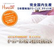 【HANZAMオリジナル】2枚合わせデュエット羽毛布団(布団)スタンダード