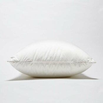 西川ダウンピロー羽根枕羽毛枕70×50cm80ラムコサテンポーリッシュホワイトグースダウン93%日本製西川プレミアム(NP7052)
