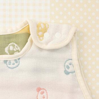 [メール便1枚迄]日本製6重ガーゼスリーパーキャンディパンダ柄綿100ハンザムココア|秋用かわいいキッズベビージュニア兼用ギフト名入れ女の子男の子子供出産祝い内祝い赤ちゃんプレゼントガーゼぱんだ今治キャラクター