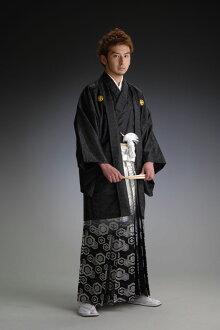 金线锦缎ボカシ裤裙-黑色-[かま]