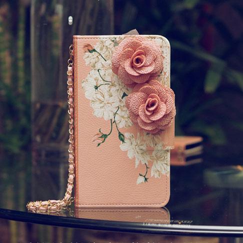 ピンク バラ iPhone6 6s 手帳型 スマホ ケース