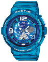 Baby-G 腕時計 レディース カシオ CASIO ベビージー デジアナ ビーチ・トラベラー・シリーズ BGA-190GL-2B ウォッチ 人気 ブランド ラッピング無料 ホワイトデー 【ベビーG】