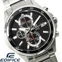 【送料無料】カシオ エディフィス 腕時計 メンズ CASIO EDIFICE クロノグラフ EFR-531D-1 蓄光 カレンダー 海外モデル…