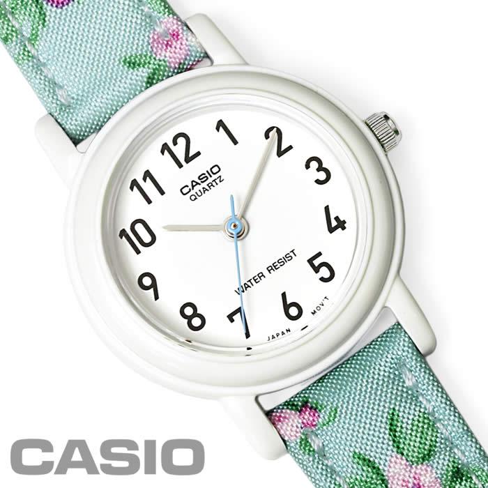 【あす楽】チプカシ 腕時計 CASIO カシオ チープカシオ 花柄 レディース キッズ LQ-139LB-2B2 アナログ 激安 時計 小花柄 フラワー ホワイト ブルー 細身 かわいい 激安 プレゼント watch tokei udedokei とけい うでどけい 特価 セール