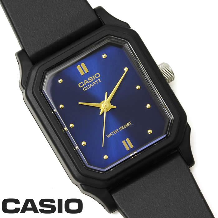 【あす楽】チプカシ 腕時計 アナログ CASIO カシオ チープカシオ ウレタンベルト LQ-142E-2A レディース 細身 シンプル 軽量 ブラック レクタンギュラー ブルー ゴールド 激安 スタンダード プレゼント ギフト 人気 WATCH うでどけい【CASIO STANDARD】