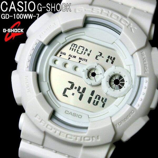 CASIO カシオ G-SHOCK Gショック ジーショック メンズ 腕時計 ソリッドカラーズ メンズウォッチ MEN'S WATCH うでどけい ホワイト 白